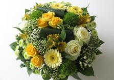 Bouquet dans les tons jaunes