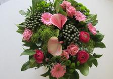 Bouquet dans les tons roses